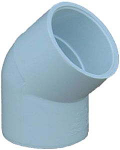 "1-1/2"" White Elbow 45 Degree Slipxslip Ell"