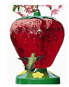 True Value 48-oz. Strawberry Style Hummingbird Feeder