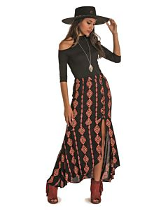 Women's Hi-Lo Maxi Skirt
